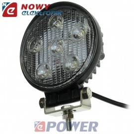 Lampa LED halogen 6x3W 10-30V IP68 Epistar led car  okrągły