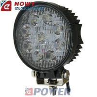 Lampa LED halogen 9x3W 10-30V IP68 Epistar led car  okrągły