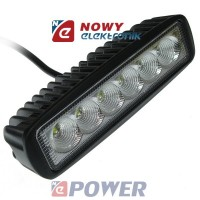 Lampa LED halogen 6x3W 10-30V IP68 Epistar led car  listwa
