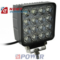 Lampa LED halogen 16x3W 12V-24V IP68 Epistar led car  kwadrat