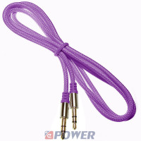 Kabel jack 3,5st wt-wt.1m fiolet Mp3 Iphone Ipod NEPOWER