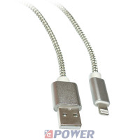 Kabel USB-Apple iPhone6,7,8 1.5m SILVER NEPOWER  USB2.0